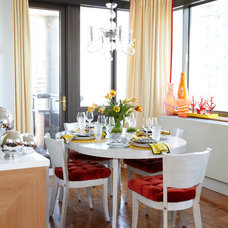 Eclectic Dining Room by Michael Tavano Design