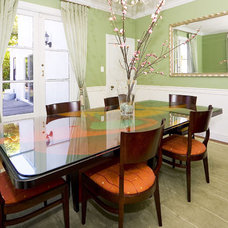 Asian Dining Room by MW Interiors