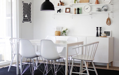 Houzz Tour: Black and White in Idaho