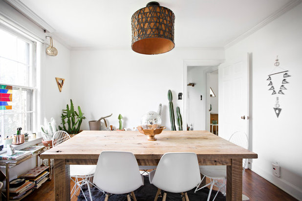Eclectic Dining Room by Caroline Sharpnack