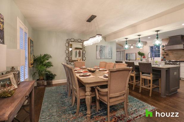 Transitional Dining Room by Hurst Design Build Remodeling