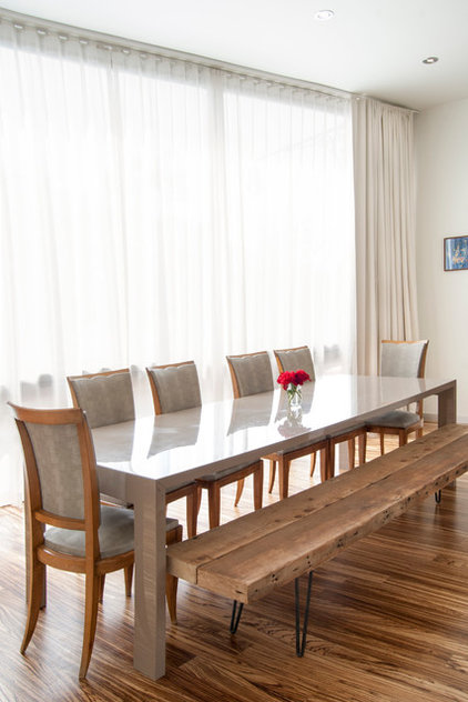 Contemporary Dining Room by Adrienne DeRosa