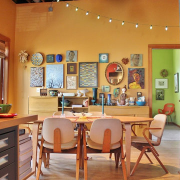 """My Houzz: A """"Big Beige Box"""" Becomes a Colorful Live/Work Home"""