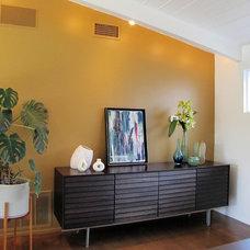 Midcentury Dining Room by Tara Bussema - Neat Organization and Design