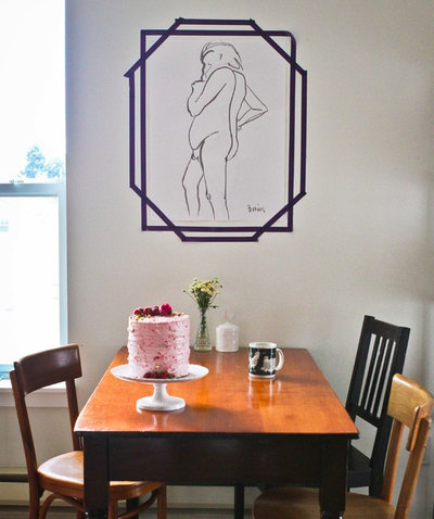 Transitional Dining Room by Caela McKeever