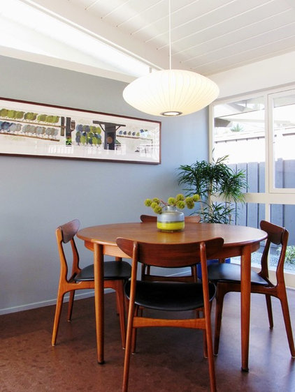 Midcentury Dining Room by Tara Bussema - Neat Organization and Design