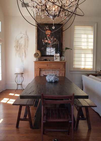 Perfect Eclectic Dining Room by Kayla Stark