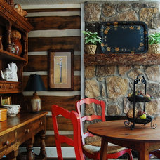 Rustic Dining Room by Corynne Pless