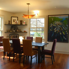 Contemporary Dining Room by Kara Mosher