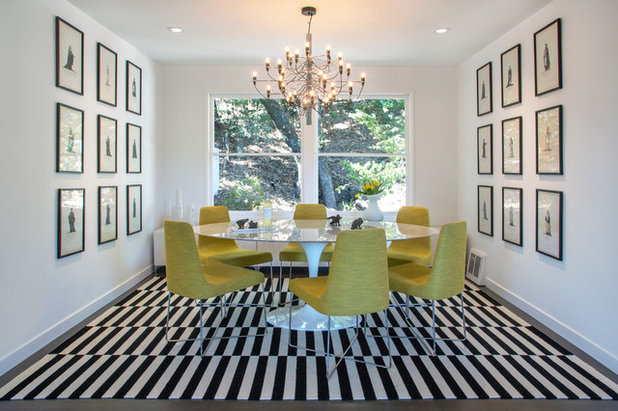 Contemporary Dining Room by Margot Hartford Photography
