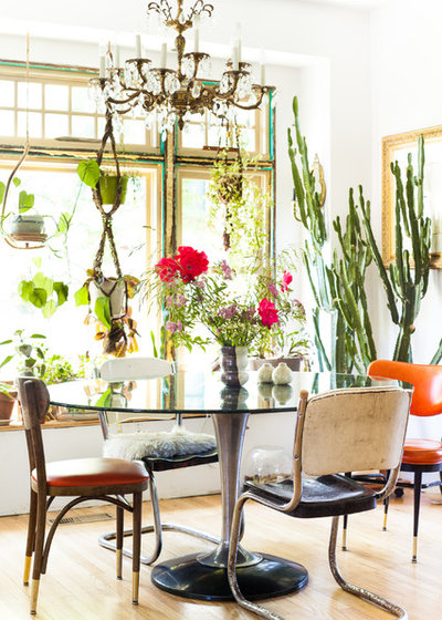Eclectic Dining Room by Ellie Lillstrom Photography