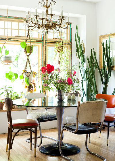 Eclectic Dining Room My Houzz: Bohemian Home Inspired by Organic 1970s Design