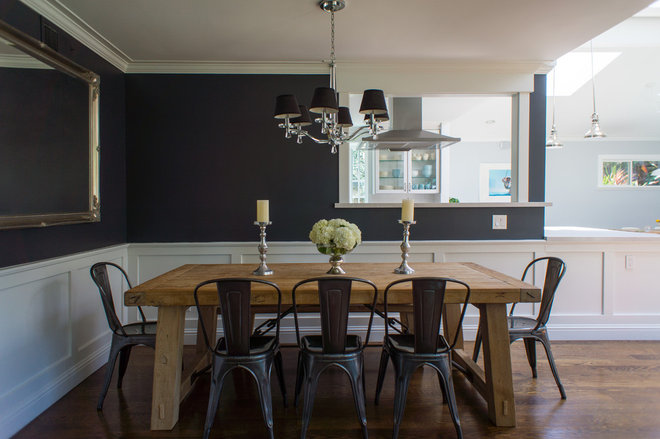 Transitional Dining Room by Hoi Ning Wong