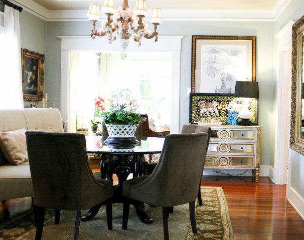 Transitional Dining Room by Mina Brinkey