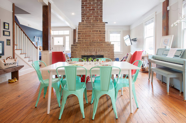 Transitional Dining Room by Margaret Wright Photography