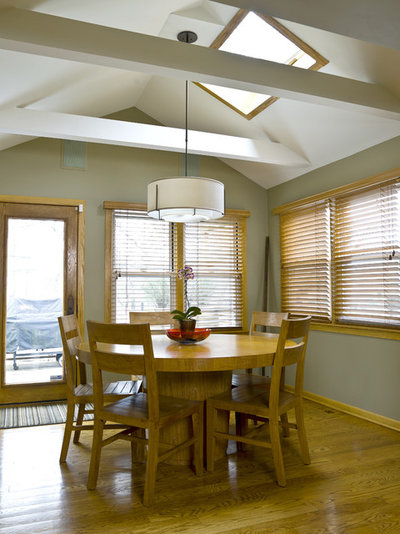my houzz contemporary split level in chicago Dining Room Tables for Small Spaces Dining Room Chairs