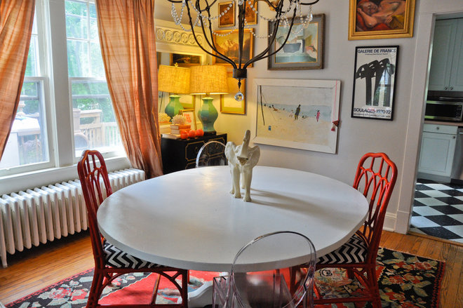 Eclectic Dining Room by CM Glover