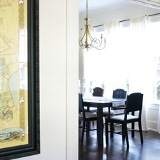 Transitional Dining Room by Hilary Walker