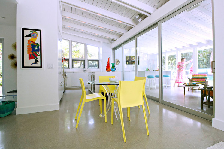 Beach Style Dining Room by Mina Brinkey