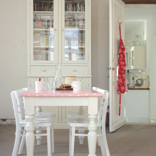 Example Of A Cottage Chic Dining Room Design In Amsterdam