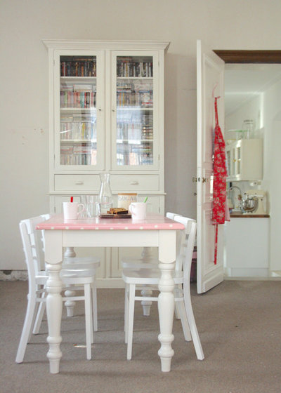 Shabby-chic Style Dining Room by Holly Marder