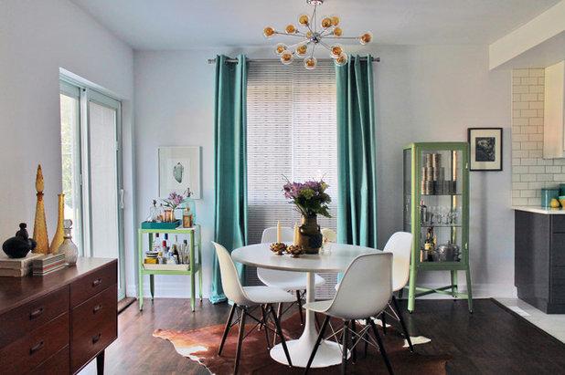 Midcentury Dining Room by Laura Garner