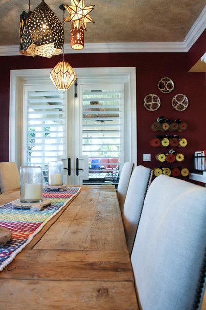 Mediterranean Dining Room by Mina Brinkey