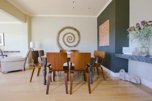 Transitional Dining Room by Nanette Wong
