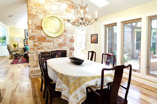 Eclectic Dining Room My Houzz And Colorful In Central Austin