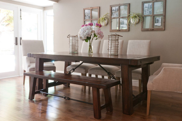 Transitional Dining Room by Angela Flournoy