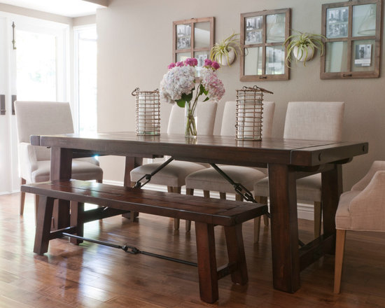 Dining Room Tables Pottery Barn pottery barn benchwright table | houzz