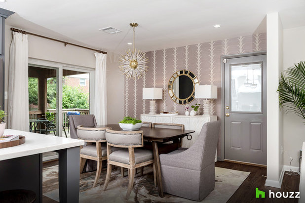 Transitional Dining Room by Stephanie Gamble Interiors
