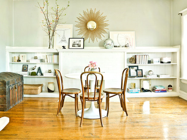 Eclectic Dining Room My Houzz: Feminine Chic Charms in a Chicago Rental