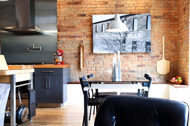 Ideal Industrial Dining Room by Esther Hershcovich
