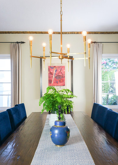 Transitional Dining Room by STRUKTR Studios Photography