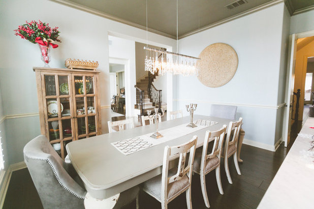 Nice Farmhouse Dining Room by Heather Banks