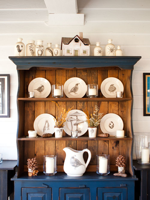 Painted Hutch   Houzz