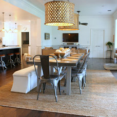 Transitional Dining Room by Mina Brinkey