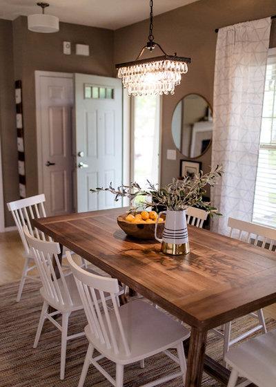 Traditional Dining Room by Kaia Calhoun