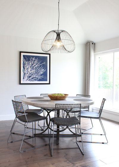 Contemporary Dining Room by Kristin Laing