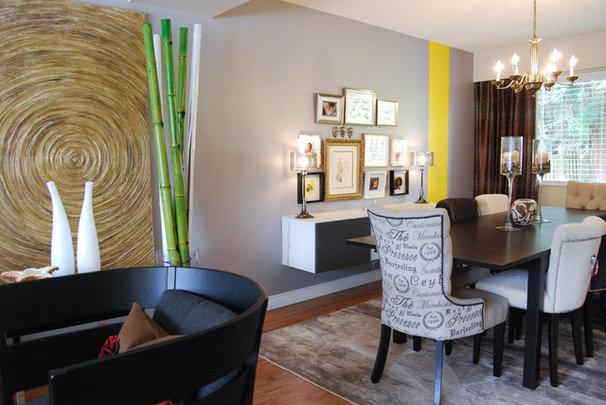 Contemporary Dining Room by Megan Buchanan