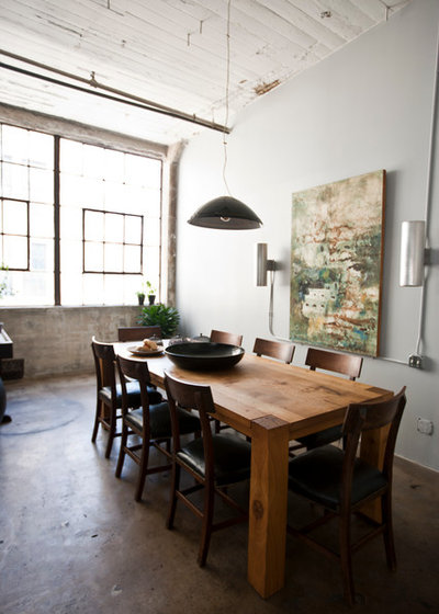 Industrial Dining Room by Chris A Dorsey Photography