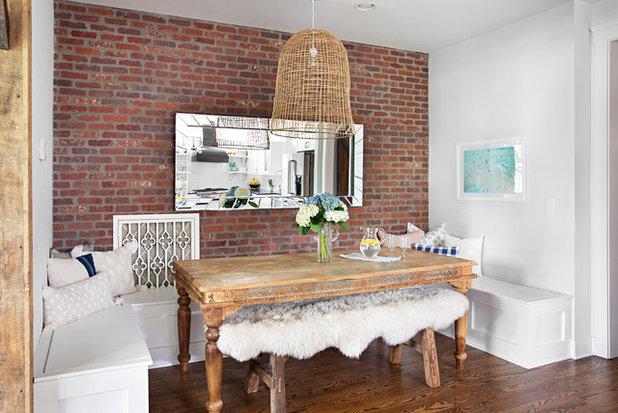 Farmhouse Dining Room by Caroline Sharpnack