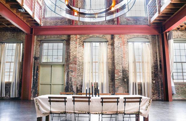 Industrial Dining Room by STRUKTR Studios Photography