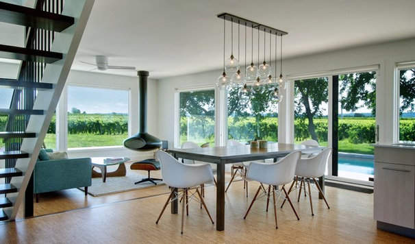 Contemporary Dining Room by Andrew Snow Photography