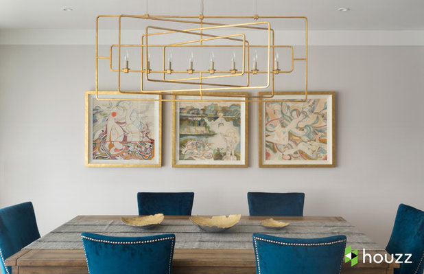 Transitional Dining Room by Breeze Giannasio Interiors