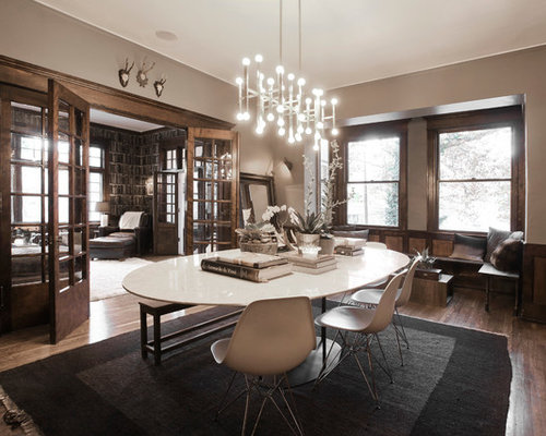 Modern formal dining room houzz for Modern formal dining room