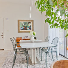 Contemporary Dining Room by Sarah Natsumi Moore