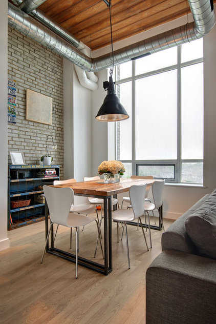 Industrial Dining Room by Andrew Snow Photography