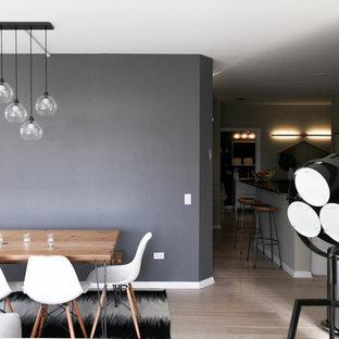 Aménagement d'une salle à manger scandinave.